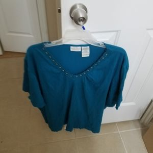 Top from  white stag  dark teal